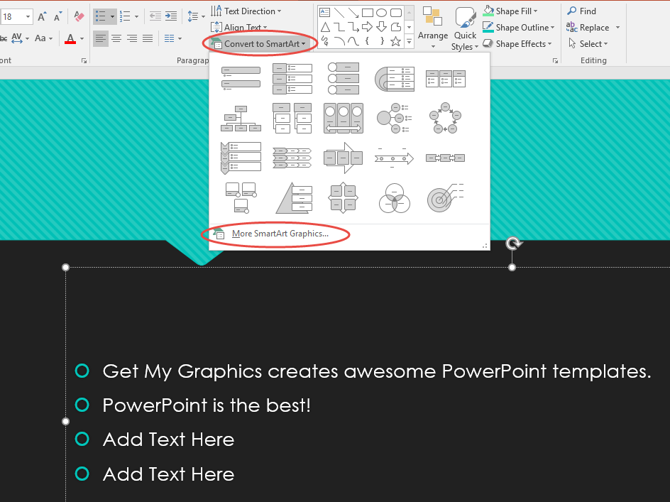 a powerpoint guide to themes and smartart get my graphics
