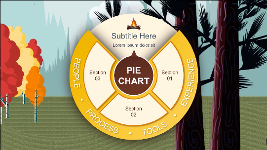 campfire pie chart