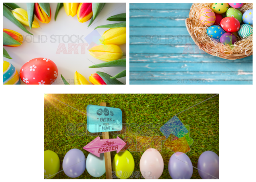 Easter Zoom Backgrounds from Get My Graphics